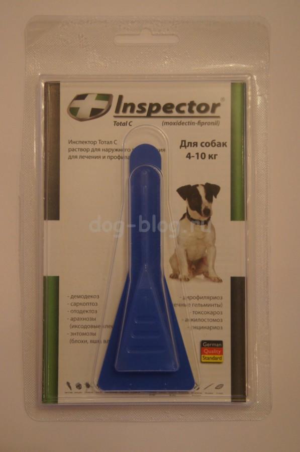 Средство обработки собаки для защиты от клещей Инспектор