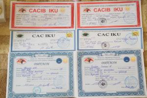 Дипломы и сертификаты Чаки Блэк Белогорье