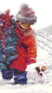 Ребёнок с ёлкой и джеком
