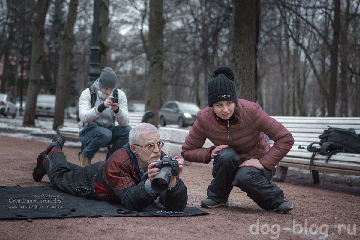 фотораф Андрей Селиверстов за работой