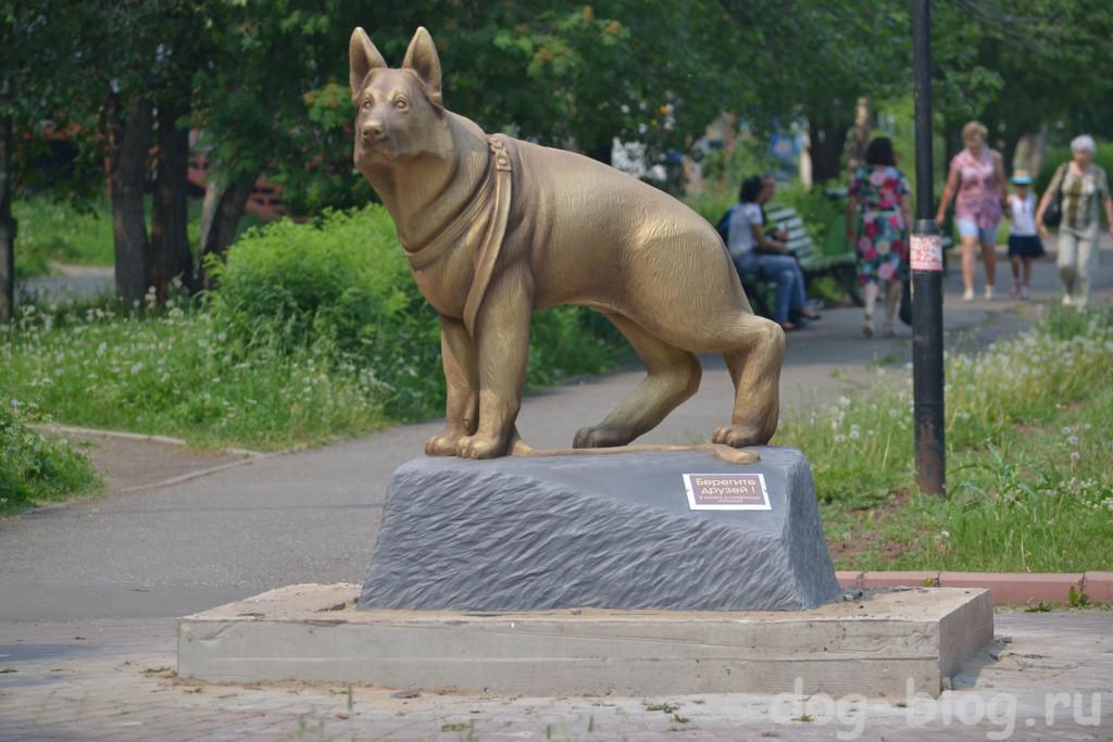 памятник собаке Братск