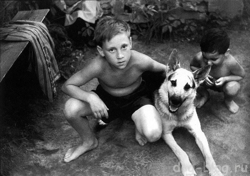 Володя Высоцкий с собакой