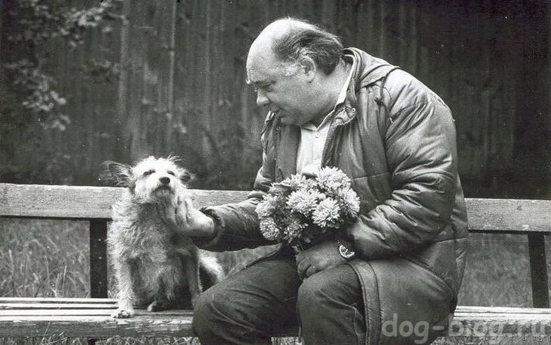 артист Леонов и собака