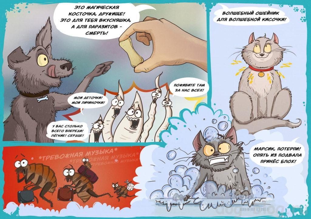 комиксы про паразитов у животных